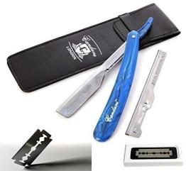 CANDURE - Professionelles Rasiermesser mit gerader Klinge - Traditionelles Rasiermesser + 20 Klingen - 1
