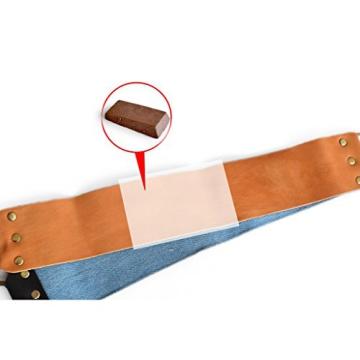 A.P. Donovan - 2-teiliger Streichriemen für Rasiermesser - Abziehleder - mit Schleifpaste - 7