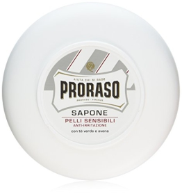 Proraso - Rasierseife im Rundtopf (groß) mit grünem Tee - sensitive - 1
